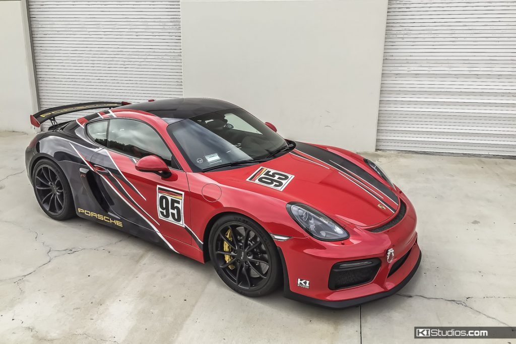 Partial Wrap Cayman GT4 Track Car