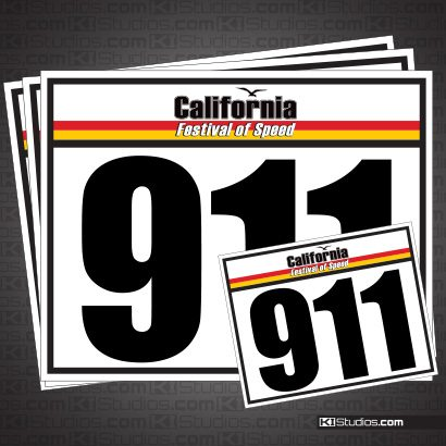 California Festival of Speed Racing Numbers