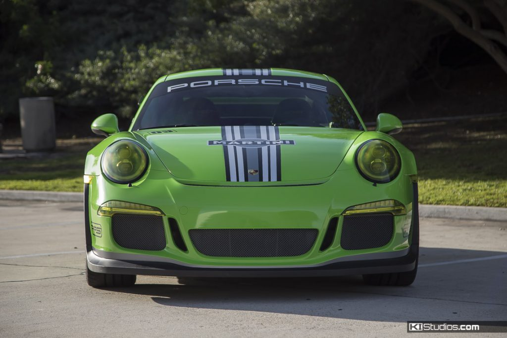 Front View Porsche 991 GT3 RS - Green Martini