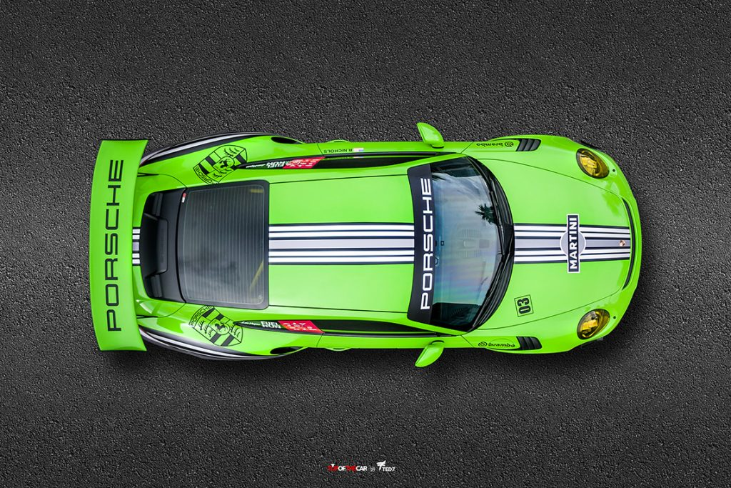 Green Martini Porsche Top of the Car