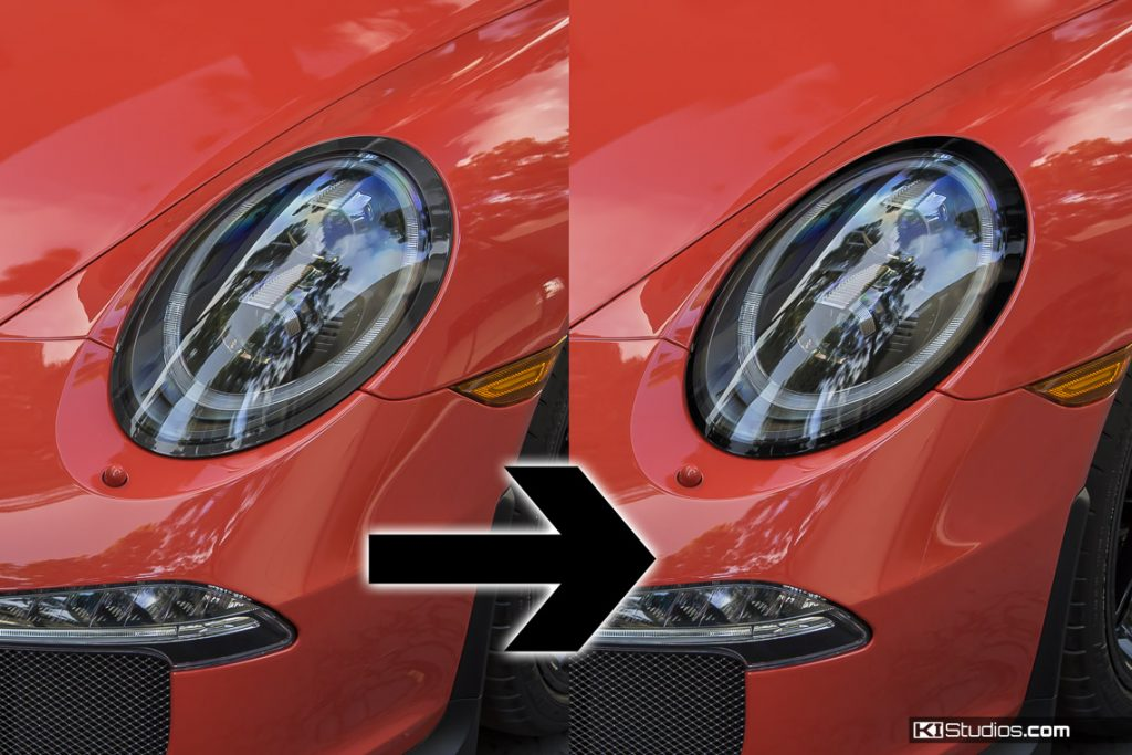 Porsche 991 GT3 LED Headlights - Blackout Trim