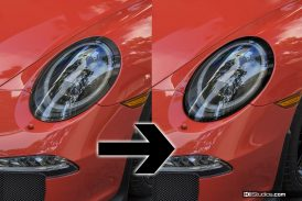 Black Vinyl Surrounds for Porsche 991 LED Headlights