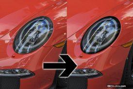 Black Vinyl Surrounds for Porsche 991 LED Headlights