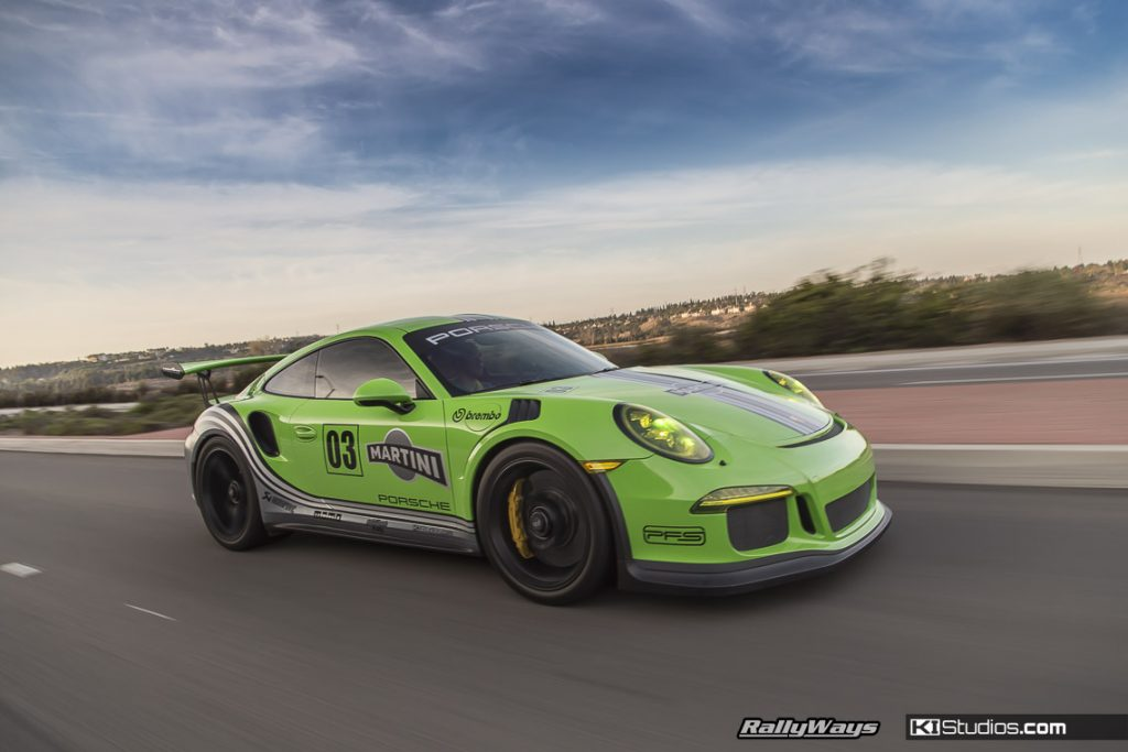 Porsche 991 GT3 RS Green Martini Rolling Shot