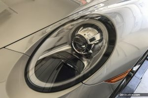 Porsche 991 Black Headlight Rings - KI Studios