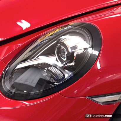 Porsche 991 GT3 Metallic Black Headlight Trim by KI Studios