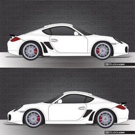 Porsche 987 Cayman Stone Guards - KI Studios