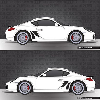 Porsche 987 Cayman Stone Guards - KI Studios