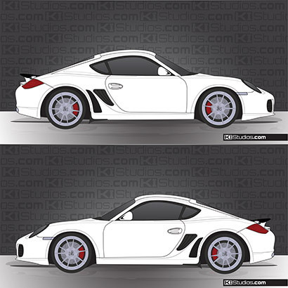 Porsche 987 Cayman Stone Guards