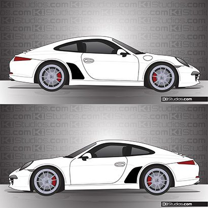 Porsche 991 Carrera Stone Guards - KI Studios