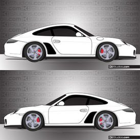 Porsche 997 Carrera Stone Guards - KI Studios
