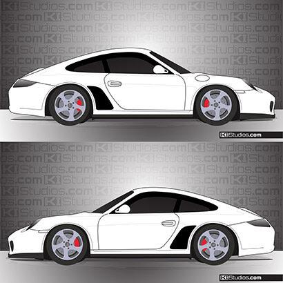 Porsche 997 Carrera Stone Guards - KI Studios