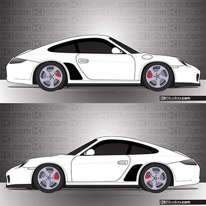Porsche 997 Carrera Matte Black Stone Guard Classic