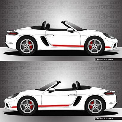 Porsche 718 Boxster Stripe Kit 001 - KI Studios