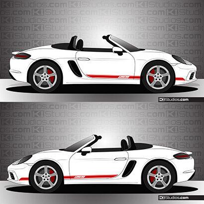 Porsche 718 Boxster Stripe Kit 002 - KI Studios