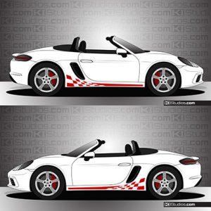 Porsche 718 Boxster Stripe Kit 003 - KI Studios