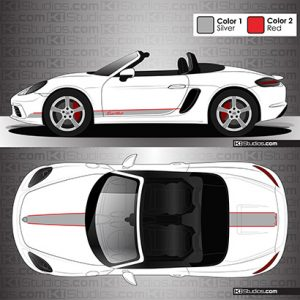 Porsche 718 Boxster Stripe Kit 005 - KI Studios