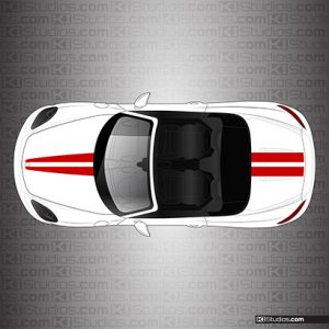 Porsche 718 Boxster Stripe Kit 006 - Dual Top Stripes - KI Studios
