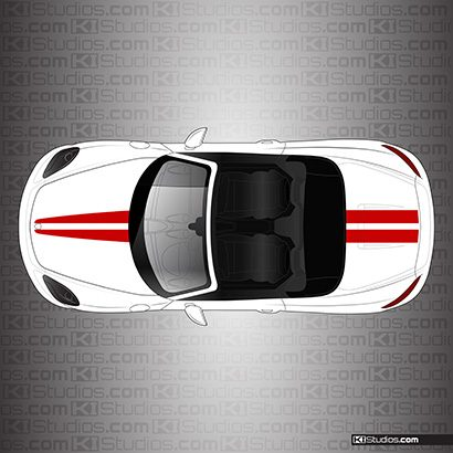 Porsche 718 Boxster Stripe Kit 006 - Dual Top Stripes - KI Studios