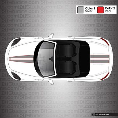 Porsche 718 Boxster Stripe Kit 007 - KI Studios