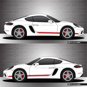 Porsche 718 Cayman Stripe Kit 001