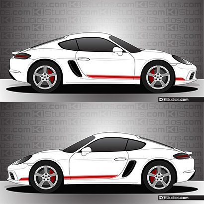 Porsche 718 Cayman Stripe Kit 001
