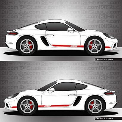 Porsche 718 Cayman Stripe Kit 002 - KI Studios
