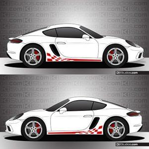 Porsche 718 Cayman Stripe Kit 003 - Checkers