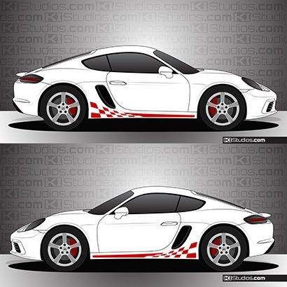 Porsche 718 Cayman Stripe Kit 003 - Checkers