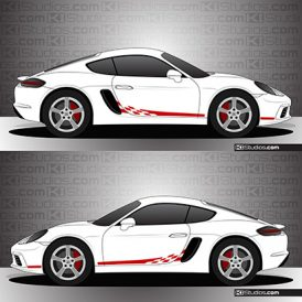 Porsche 718 Cayman Stripe Kit 004
