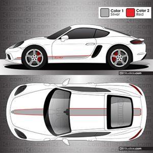 Porsche 718 Cayman Stripe Kit 005