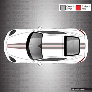 Porsche 718 Cayman Racing Stripes