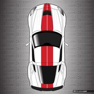 Corvette C7 Dual Racing Stripes - KI Studios
