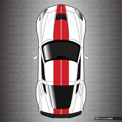 Corvette C7 Dual Racing Stripes - KI Studios
