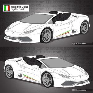 Lamborghini Huracan Spyder Performante Stripes by KI Studios