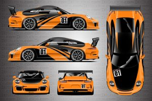 KI Studios Porsche 991 GT3 Cup Elixir Livery - Bright Orange Colorway