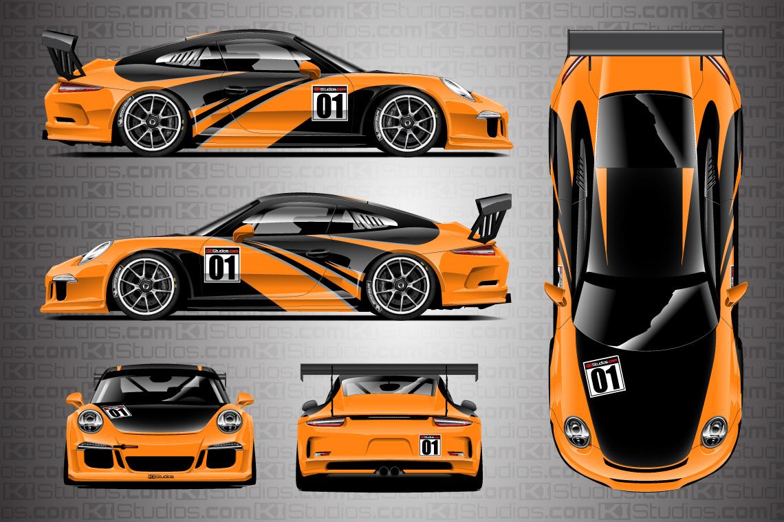 Porsche Racing Livery Wrap , Elixir