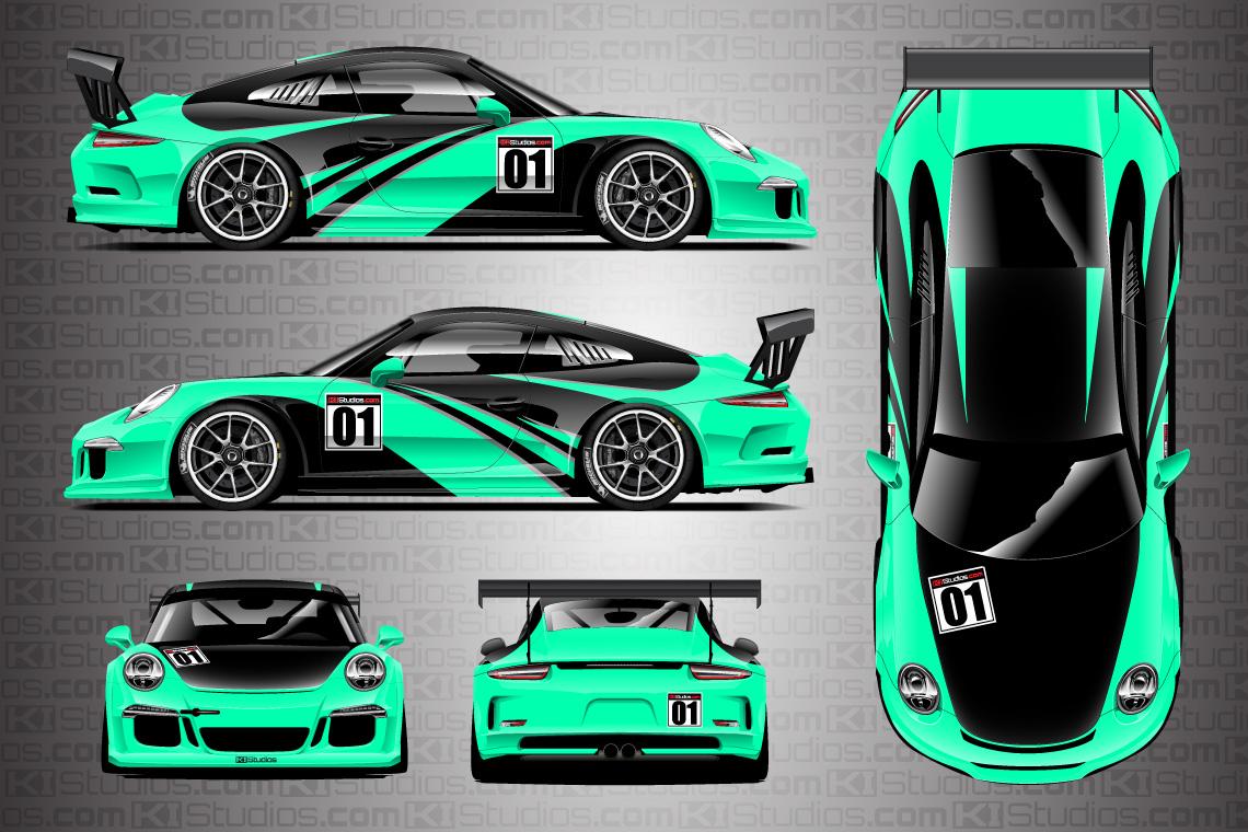Porsche Racing Livery Wrap Elixir
