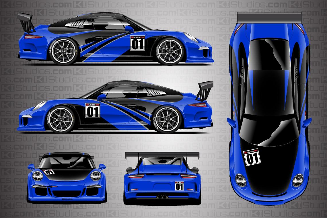 Porsche Racing Livery Wrap - Elixir