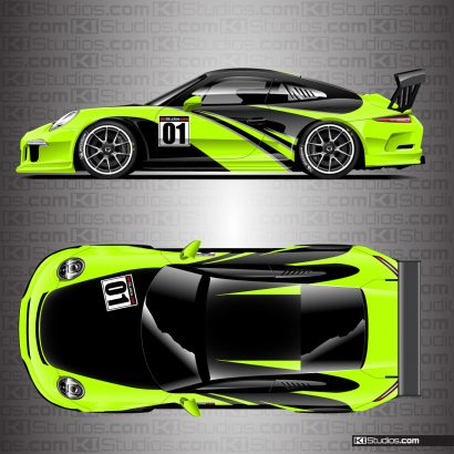 Porsche 991 GT3 Cup Car Livery Graphics by KI Studios.