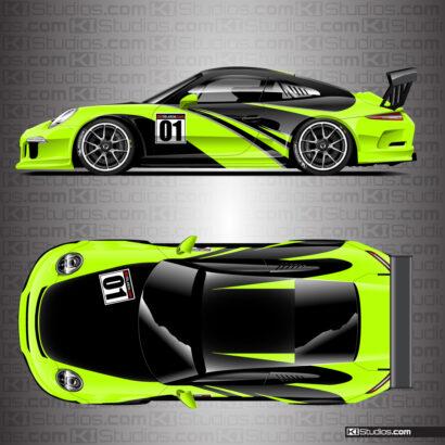 Porsche 991 GT3 Cup Car Livery Graphics by KI Studios.