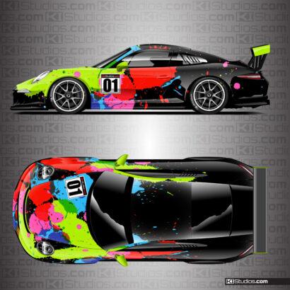 Porsche 911 Race Car Livery Wrap - KI Studios