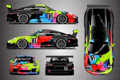 Porsche Livery - Cup Car Jackson by KI Studios - Full Layout