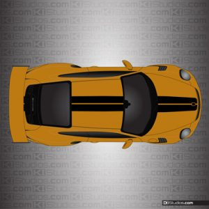 Porsche 911 Exclusive Series Stripes in Different Colors