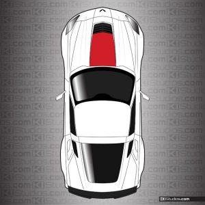 Corvette C7 Z06 Style Hood Stinger by KI Studios