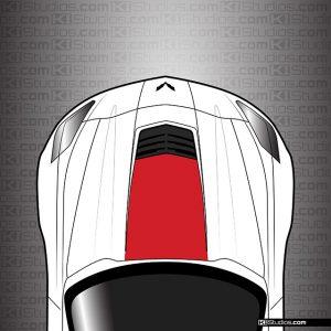 Corvette C7 Z06 Hood Stinger Vinyl Decal