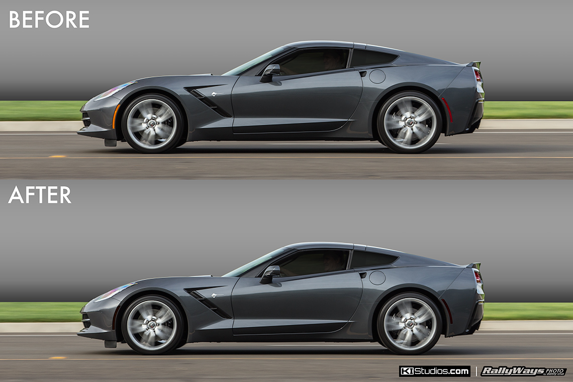 Corvette C7 Stingray Side Marker Blackout Tint Kit