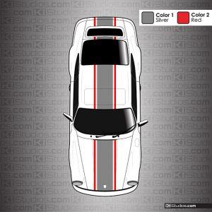 Dual Color Porsche 964 Classic Stripes