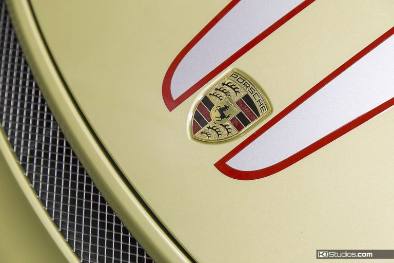Porsche Badge with Stripes