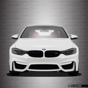 BMW M4 Headlight Film Dark Smoke - KI Studios